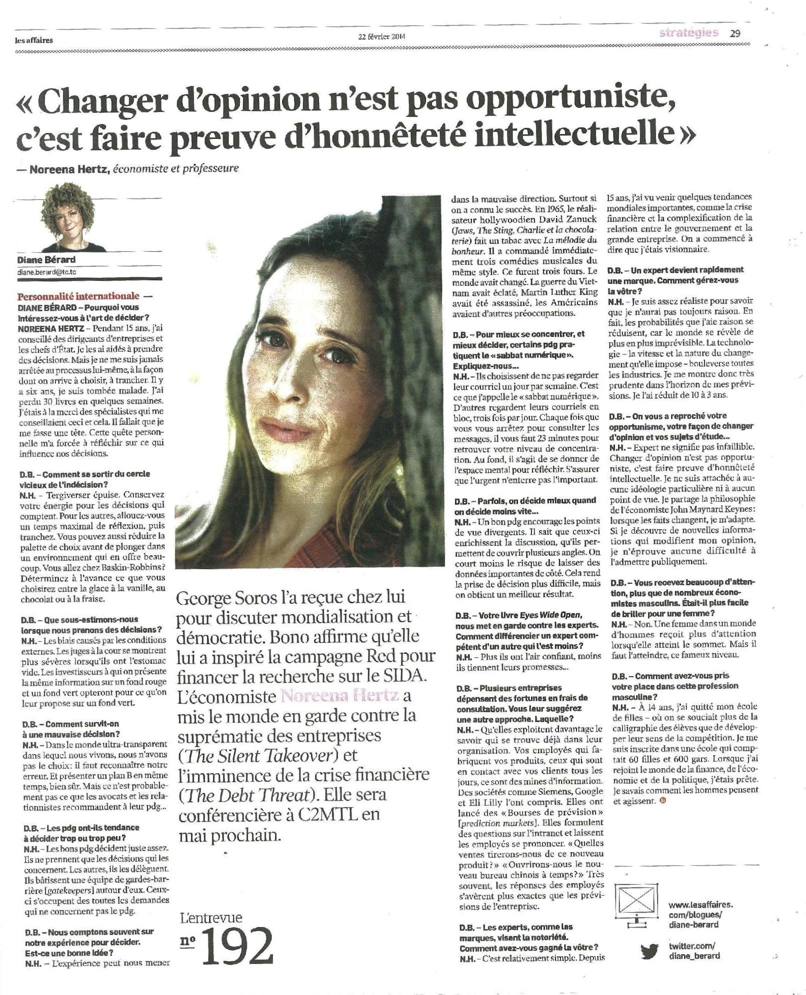 33 - Les affaires _entrevue Noreena Hertz_22 02 2014_JPEG